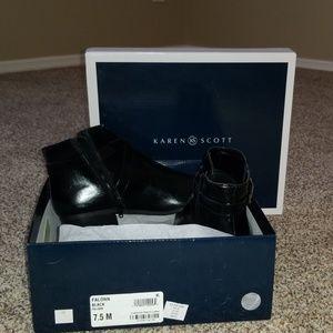 Karen Scott black booties